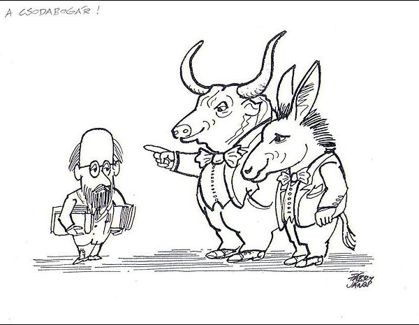 Karikatúra kiállítás a Művházban