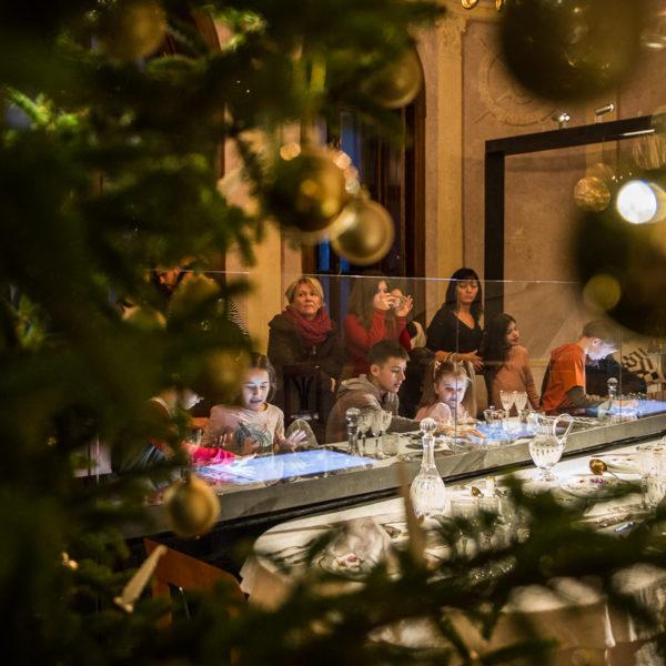 Gyulai nagycsaládosok karácsonya a kastélyban