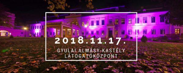 Lilába öltözik a gyulai Almásy-kastély