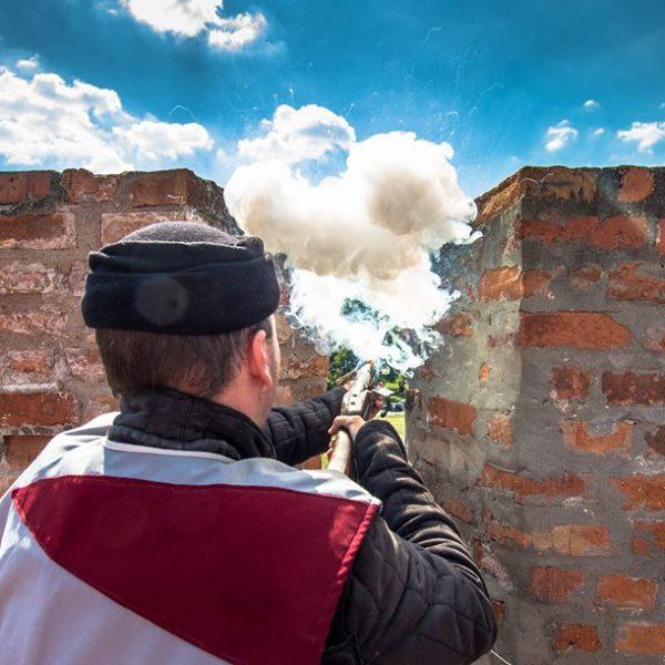 Óév búcsúztató, újév köszöntő lövések és durranások a gyulai várban